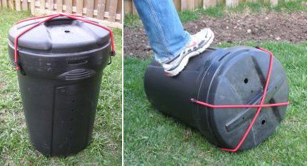 Homemade Compost Tumbler | 13 Best DIY Compost Tumblers  | Make Your Own Organic Garden Fertilizer With These Easy And Inexpensive Compost Tumbler by Pioneer Settler at  http://pioneersettler.com/compost-tumblers/