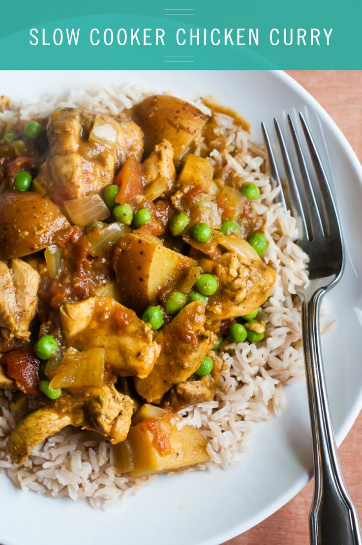 Quick & Easy Slow Cooker Chicken Curry