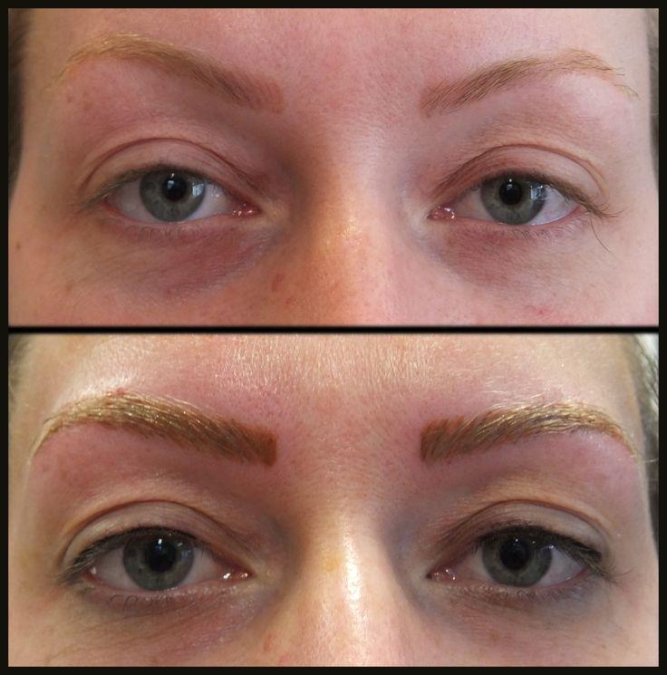 hairstroke techniek wenkbrauwen en subtiele eyeliner boven permanente make up