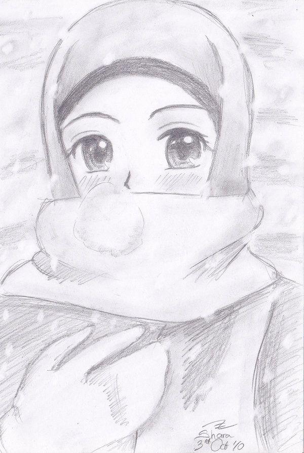 Anime Girl in Snow