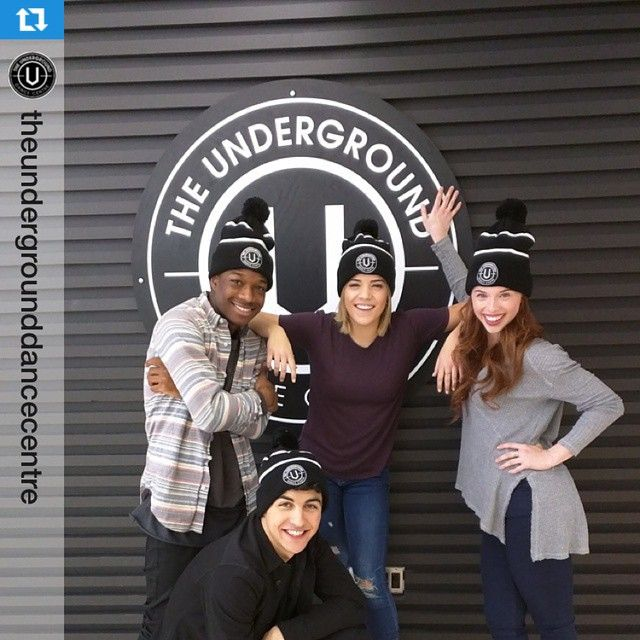 #Repost @theundergrounddancecentre thanks for letting us use the space!...and for the cool beanies ・・・ Our friends @trevorflanny @jordanclark_18 @lamarjohnson @b_raymond from the cast of The Next Step came by The Underground today for some promo interviews. Come back soon!