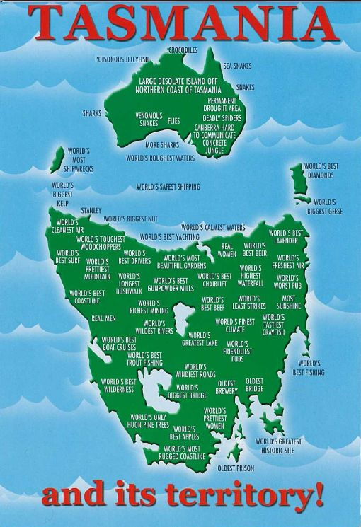 You know that Tasmania is the best AT PRETTY MUCH EVERYTHING. Lol at the infographic :D