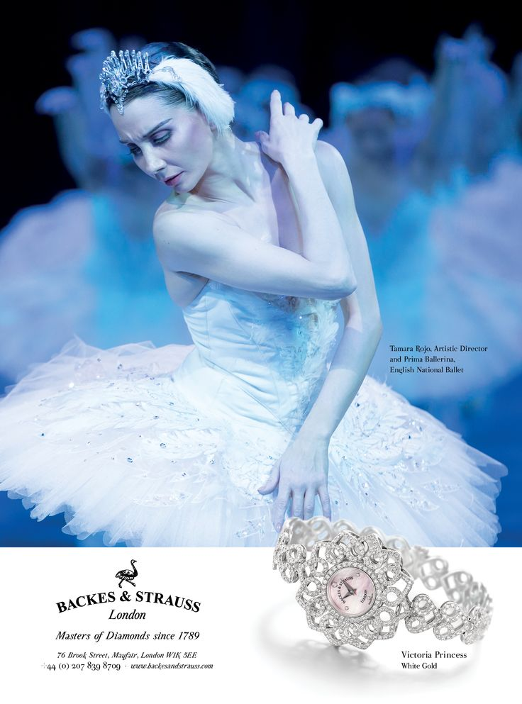 Tamara Rojo, prima ballerina of the English national Ballet is now the proud ambassador of Backes & Strauss' Victoria Collection  - For more information, visit www.backesandstrauss.com