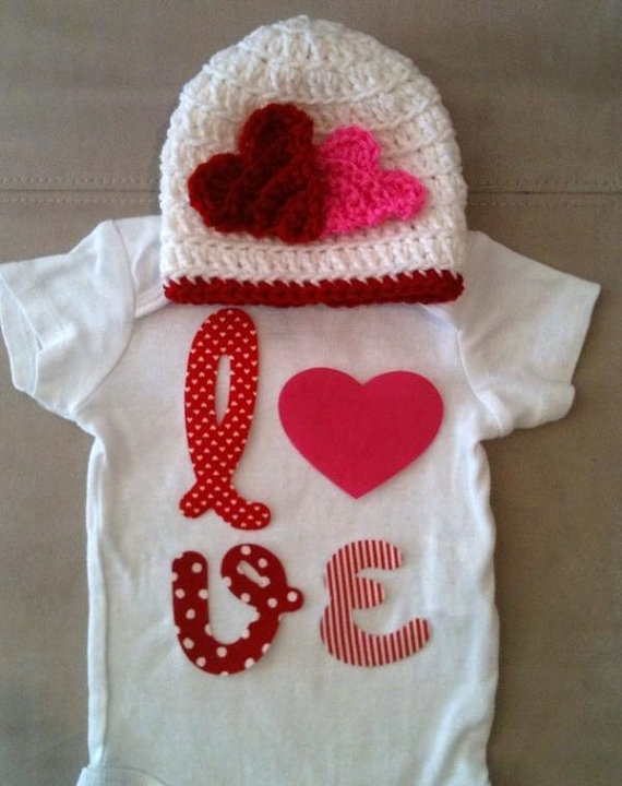 Valentine s Day outfit for baby girls LOVE onesie by