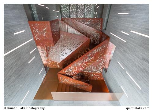Copper Staircase, Villa Mallorca by Arup & Studio Mishin | photo By Quintin Lake
