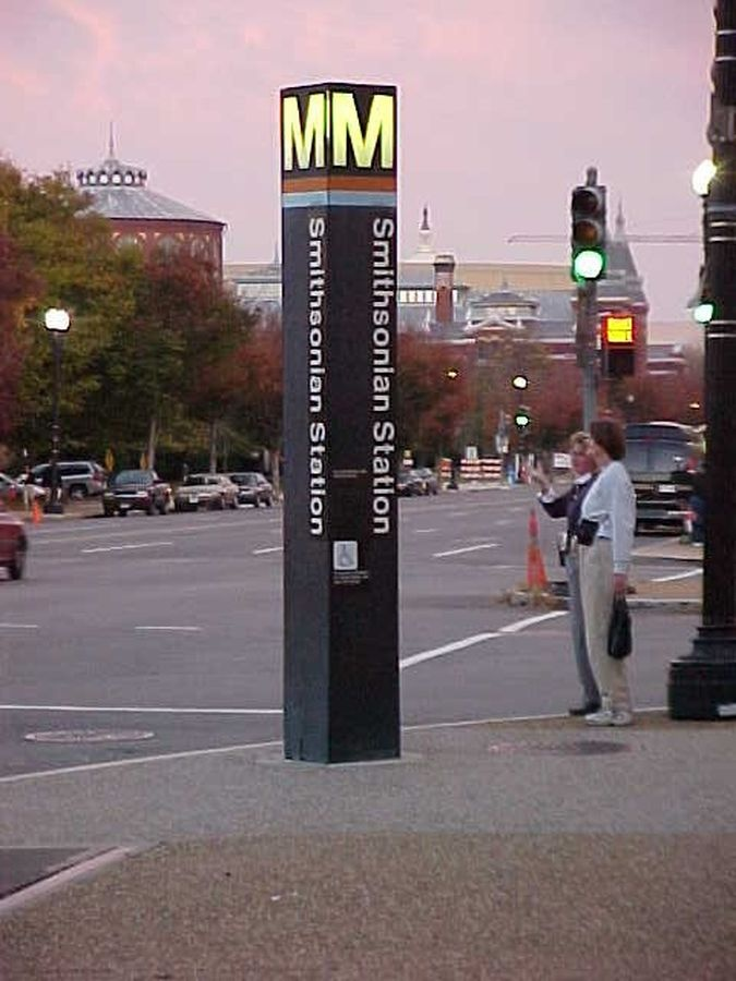 Smithsonian is located near the center of