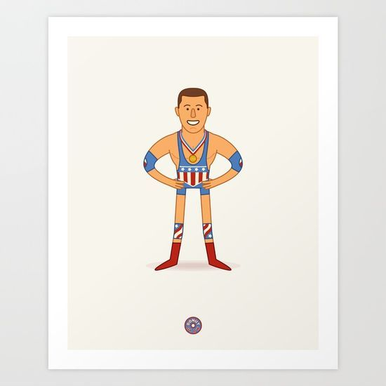 Kurt Angle - Pro Wrestling Illustration Art Print