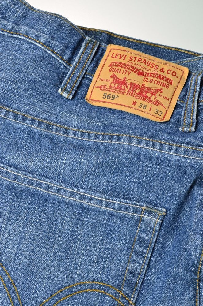 Levis 569 Mens Jeans 38W 32L Made in China #Levis #LooseStraight