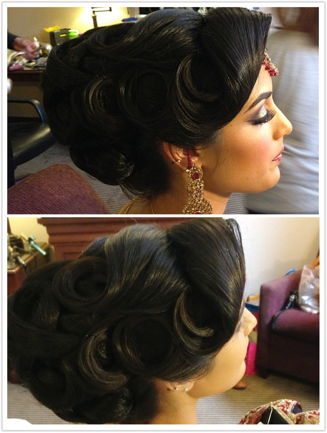 205d518e504dcf0f7a8a025567f453d7  indian hairstyles bridal hairstyles - Asian Wedding Upstyles