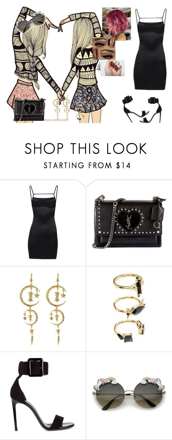 """Supercut #Lorde"" by diane-ds ❤ liked on Polyvore featuring Yves Saint Laurent, Eye Candy and Noir Jewelry"