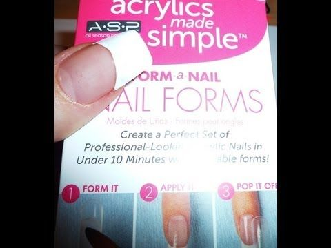 ASP Nail Forms (Get Instant long nails in less than 5 minutes!) Dual System Forms