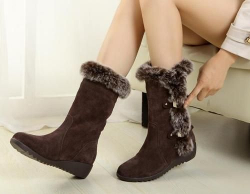 New-Fashion-Womens-Shoes-Winter-Warm-Fur-Snow-Boots-Lace-Up-Mid-Calf-Ankle-Boots