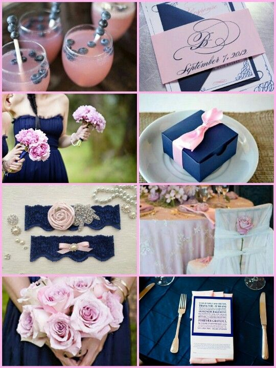 1000 images about navy blue and light pink wedding on for Navy blue and pink wedding