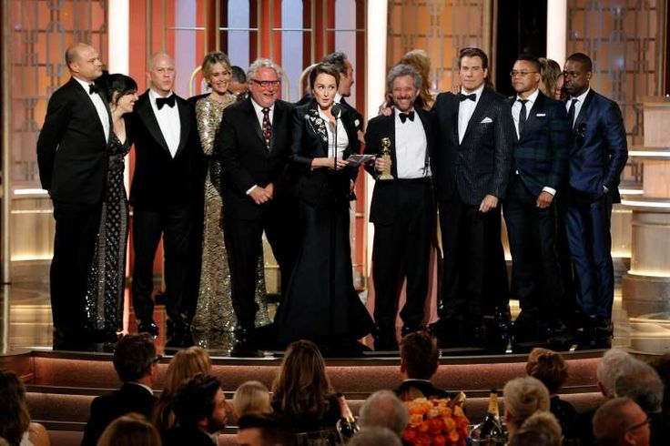 """Best Television Limited Series or Motion Picture Made for Television:   Nina Jacobson, executive producer of """"The People v. O.J. Simpson,"""" accepts the Golden Globe."""