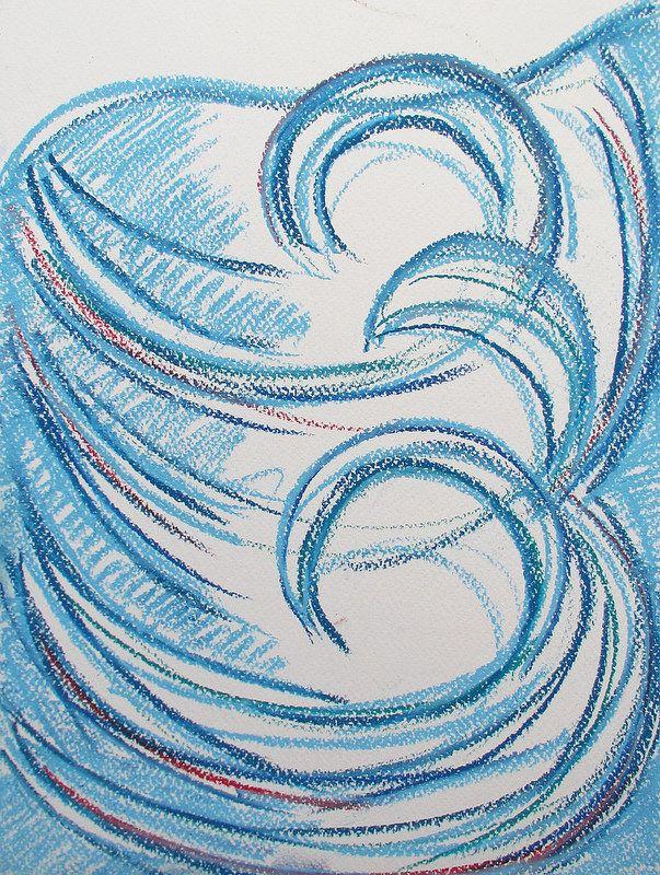 Sea waves #art #pastels #sea #wave #helsinki #finland #abstract #summer #water #drawing