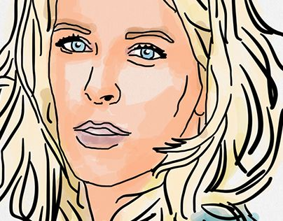"""Check out new work on my @Behance portfolio: """"iPad Illustrations (Celebrity Version)"""" http://on.be.net/1QykxnO"""