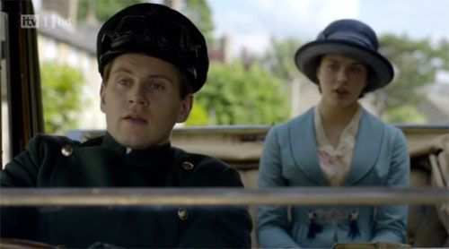Driving Ms. Sybil on Downton Abbey Season 1 Episode 4