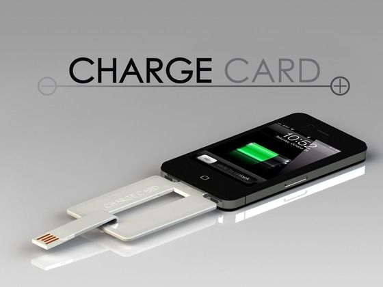 ChargeCard for iPhone and Android by Noah Dentzel + Adam Miller, via Kickstarter.