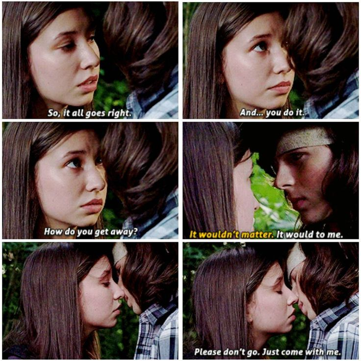 "CARL & ENID  ""How do you get away?"" Carl willing to risk his life to kill Negan, & save his family."