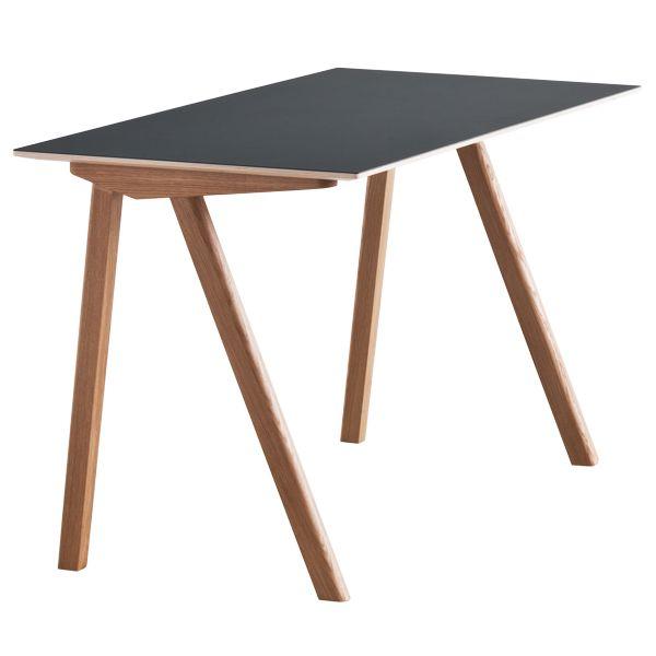 Copenhague CPH90 desk, oak-black