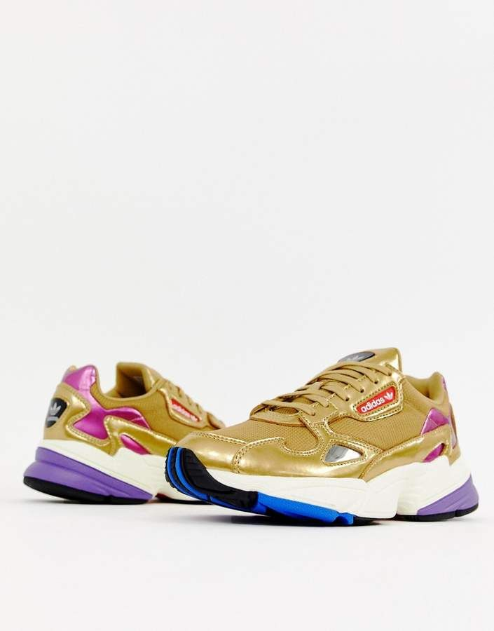cheap for discount 97193 10f4a adidas Originals gold metallic Falcon sneakers