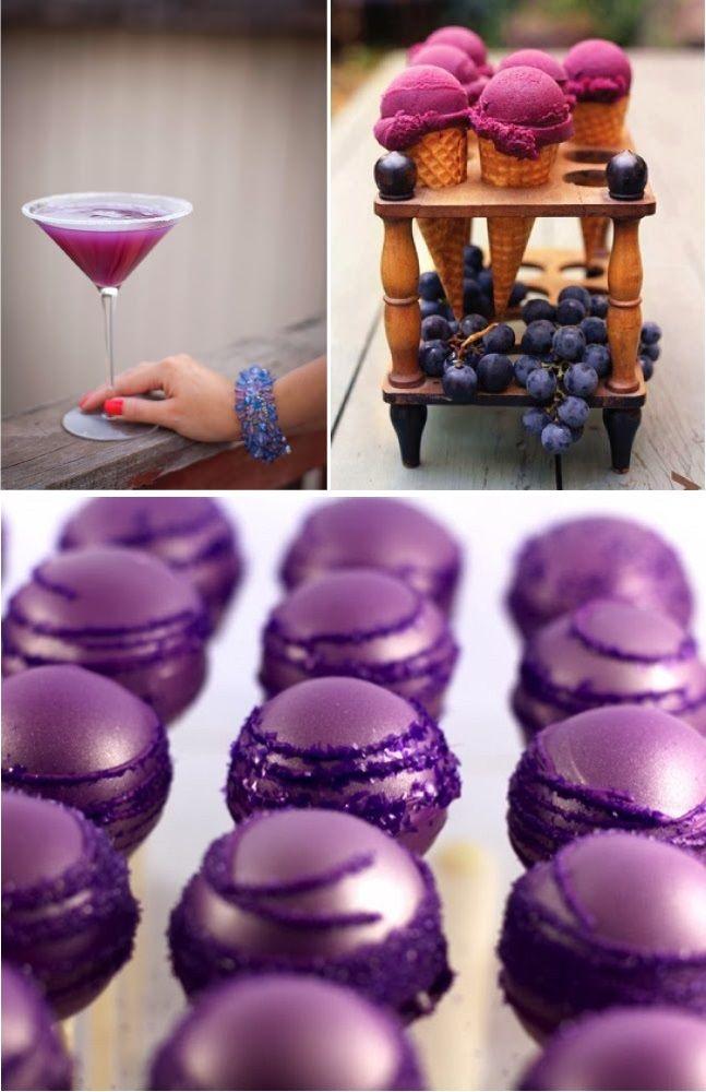 black white purple wedding reception%0A RadiantOrchidWeddingfood  Inspiration for Mobella Events   www mobellaevents