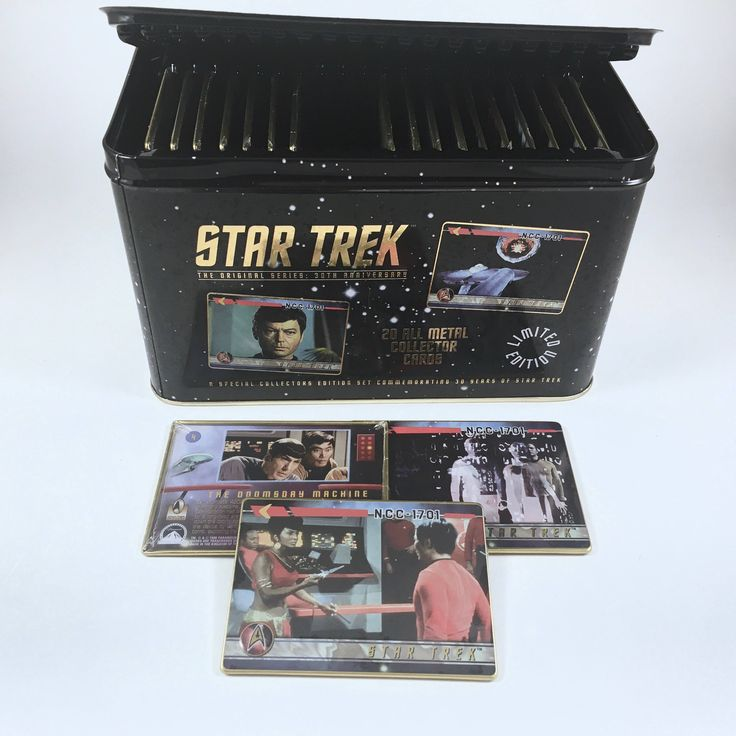 Star Trek Metal Collectors Cards, Metal Box, Vintage Trading Cards, 30th Anniversary Set, 20 Mint Cards, Numbered Set, Certificate Included by BarnabyGlenVintage on Etsy