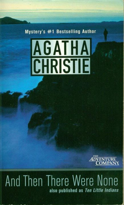 AND THERE WERE NONE by Agatha Christie   Also published with the title TEN LITTLE INDIANS. It is Christie's best-selling novel with 100 million sales to date, making it the world's best-selling mystery ever, and one of the best-selling books of all time   The first page contains a poem of ten little soldiers, where each of them gets eliminated, stage by stage and then there were none left eventually.