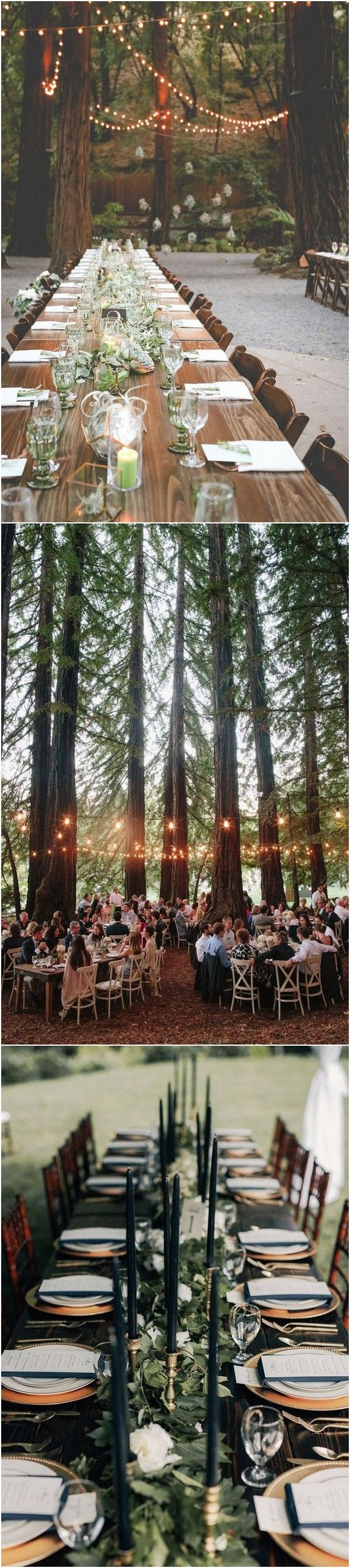 Wedding decorations for reception january 2019  Whimsical Woodsy Forest Wedding Reception Ideas for  Trends