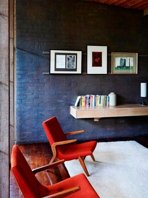 #vintage  #retro  #interior_design #wooden_floor  #facing brick