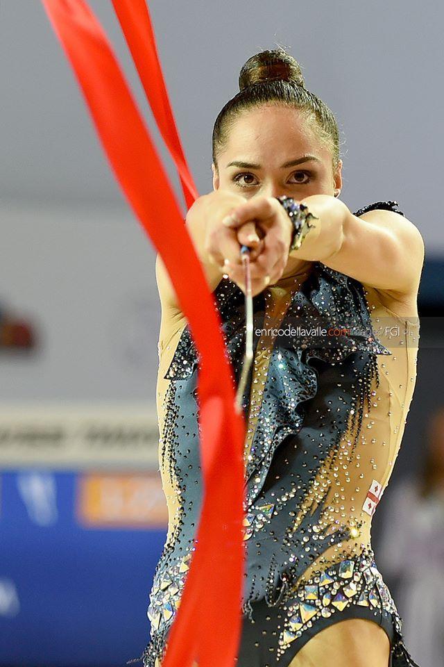 Salome Pazhava (Georgia) shared bronze (with Melitina Staniouta) in ribbon finals at World Cup (Berlin) 'Berlin Masters' 2016