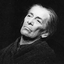 """Helene Weigel - (12 May 1900 – 6 May 1971) was a distinguished German actress and artistic director. She was the second wife of Bertolt Brecht and married to him from 1930 until his death in 1956. Together they had two children. Weigel in 1967, as """"Mother"""" in Bertolt Brecht's play The Mother."""