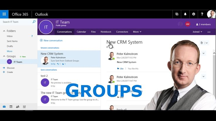 *Office 365 Groups Intro* With Office 365 Groups you can quickly have a set of collaboration tools organized for a group of people who want to work together. http://kalmstrom.com/Tips/Office-365-Course/Groups.htm