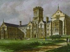 Antique print of Kingswood School, Bath.