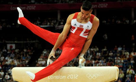 Louis Smith takes silver in men's pommel horse for Team GB, while his team-mate Max Whitlock takes the bronze