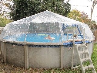 Affordable, Kid-Friendly, Above Ground HEATED DOME COVERED POOL, play area
