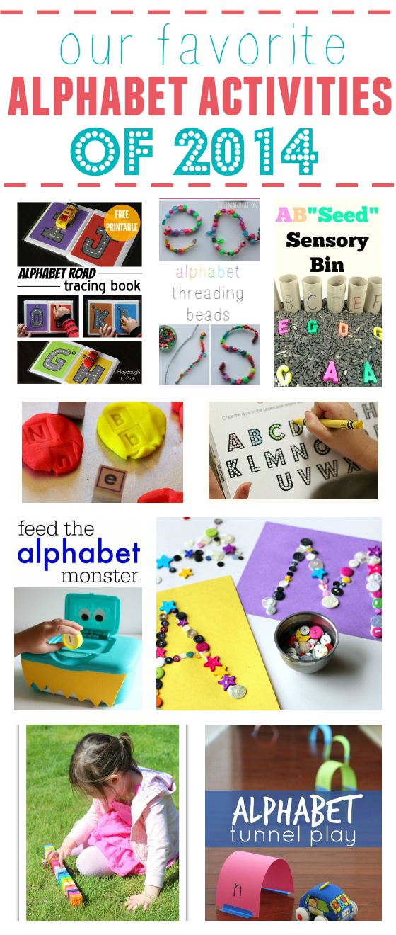 This is a great collection of alphabet activities from No Time For Flash Cards and other great blogs!