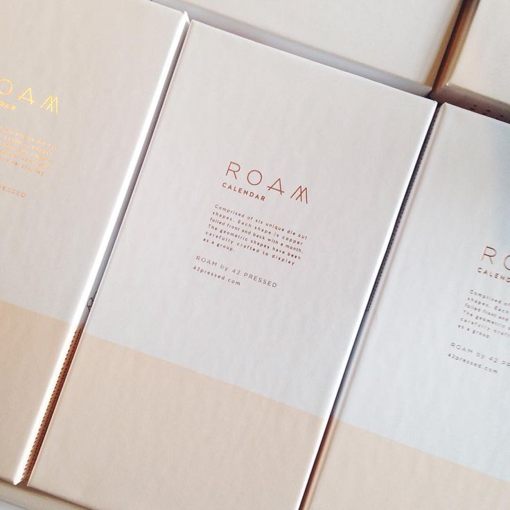 All #ROAMby42pressed products, including all map prints and soy based candles, are now live up on the site and ready to ship! These are the boxes that our 2016 die cut calendars are housed in: blush pink with copper foil copy