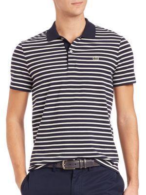 LACOSTE Horizontal Stripe Polo. #lacoste #cloth #polo