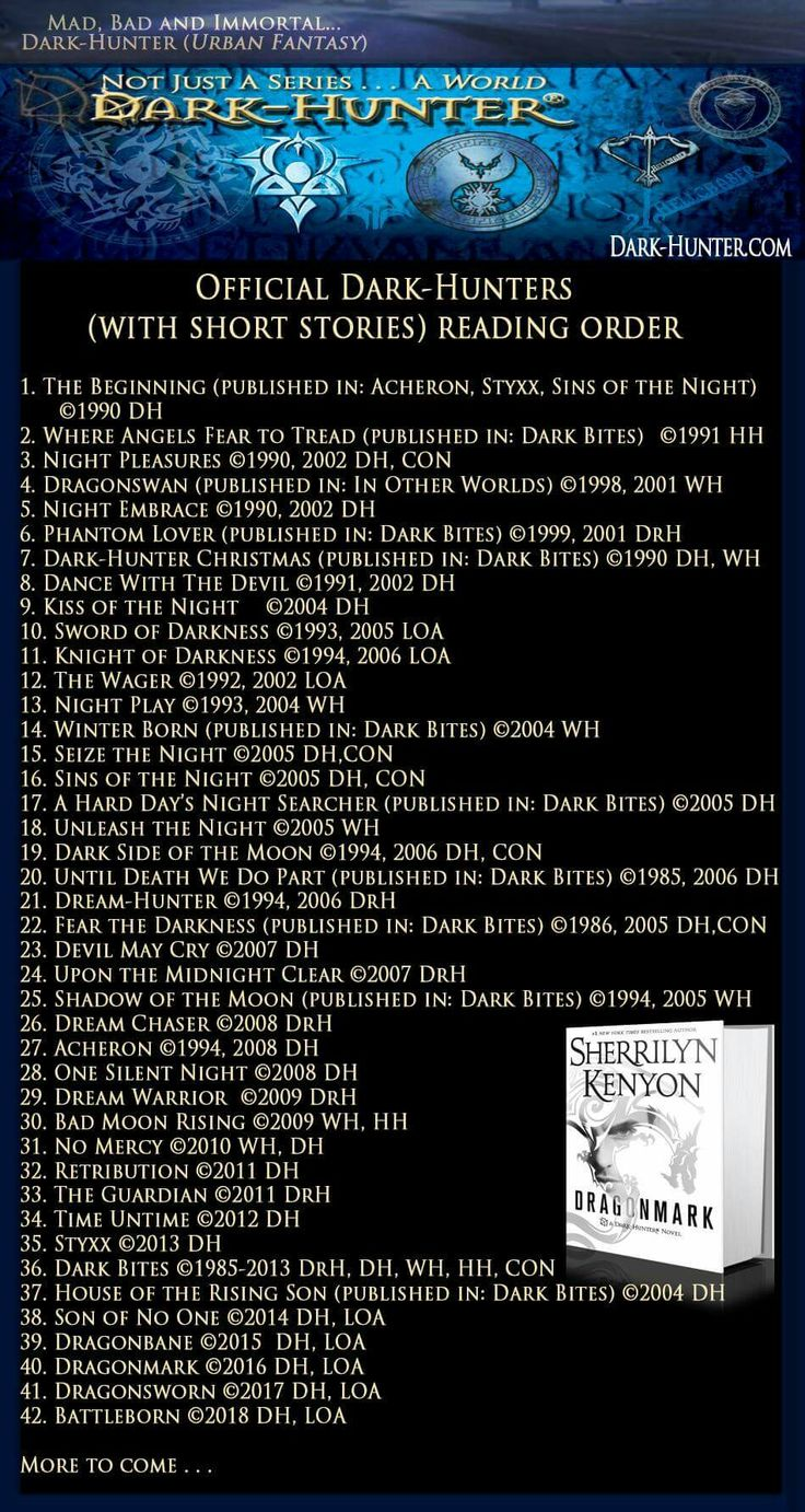 Official Darkhunter (with Short Stories) Reading Order
