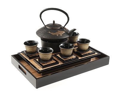 KOI PROSPERITY CAST IRON TEA SET