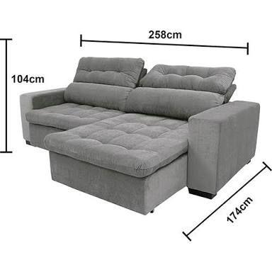 sofa 3 lugares retratil e reclinavel profundidade - Pesquisa Google