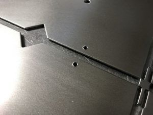 Tapped threads in mild steel plates with our @trumpf_ltd 3000 CNC punch http://www.vandf.co.uk/blog/design-ideas-for-cnc-punching-sheet-metal-work-with-trumpf-punch-presses/