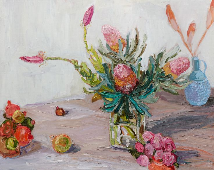 Laura Jones Banksias and Banana Flowers #18642 | Olsen Gallery Sydney Australia