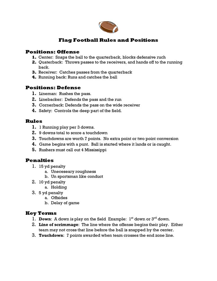 how to play flag football for beginners