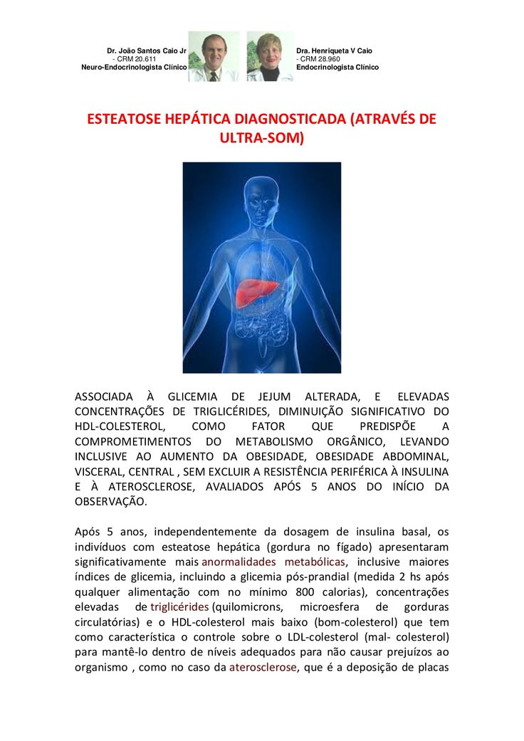 ESTEATOSE HEPÁTICA DIAGNOSTICADA (ATRAVÉS DE ULTRA-SOM) by VAN DER HAAGEN via slideshare