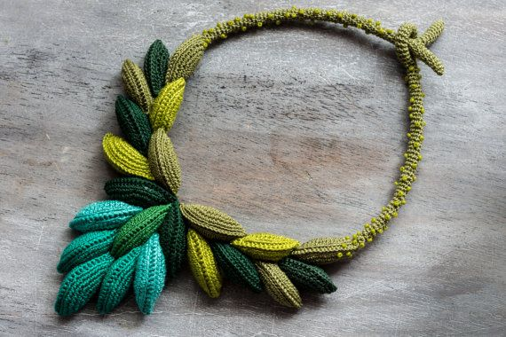 Colorful Crochet Necklace / Caesar necklace by LidaAccessories