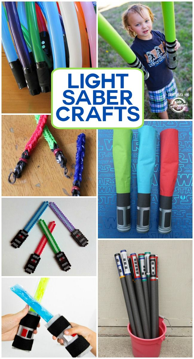 So cute for the Star Wars fans! How to make your own light saber.