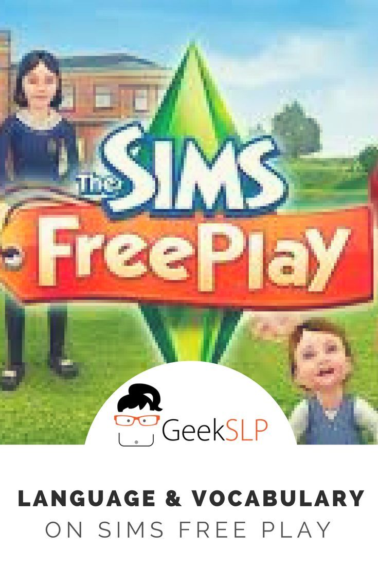 The Sims Freeplay Long Hairstyle - Language and vocabulary using the sims free play app on the ipad