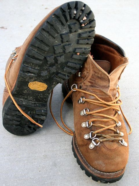 vintage hiking boots with vibram soles | Wore mine forever!